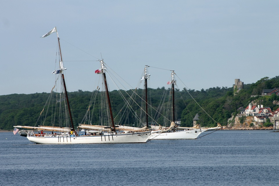 Two Schooners in Gloucester Harbor